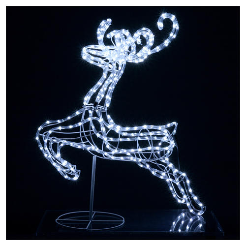 Reindeer jumping light cable 288 leds 92 cm internal and external use 2