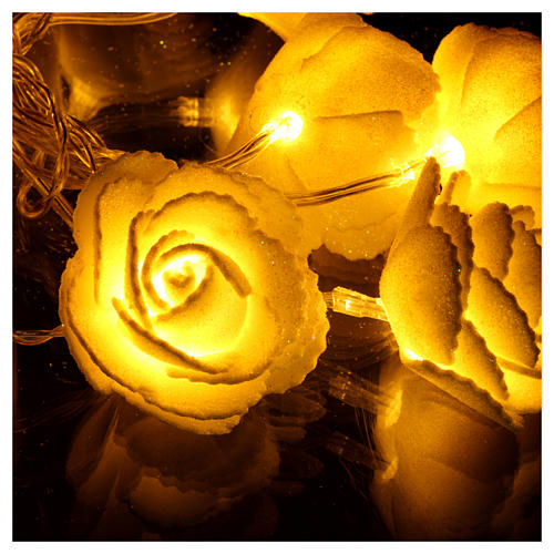 Light chain with roses 10 warm white leds for internal use 3