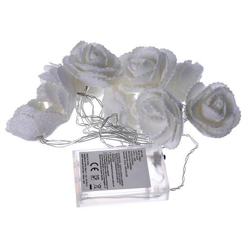 Illuminazione roselline 10 led Bianco Caldo per interno 4