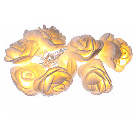 Light chain with roses 10 warm white leds for internal use s1