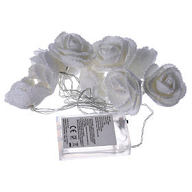 Light chain with roses 10 warm white leds for internal use s4