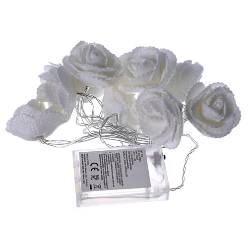Light chain with roses 10 warm white leds for internal use 4