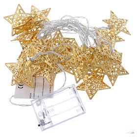 Catena 20 led bianco caldo stelle oro uso interno s4