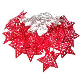 Catena 20 led rosso stelle per uso interno s1