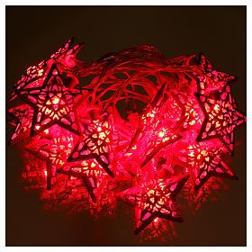 Catena 20 led rosso stelle per uso interno s2