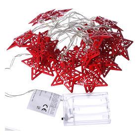 Catena 20 led rosso stelle per uso interno s4