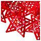 Catena 20 led rosso stelle per uso interno s3