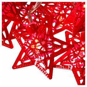 Light cable 20 leds red stars internal use s3