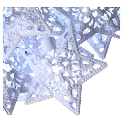 Cadena luces 20 led estrellas blanco hielo interior 3