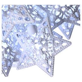 Catena luci 20 led stelle bianco ghiaccio interno s3
