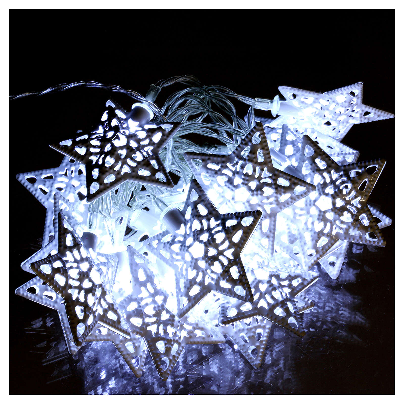 Light cable 20 led stars ice white internal use 3