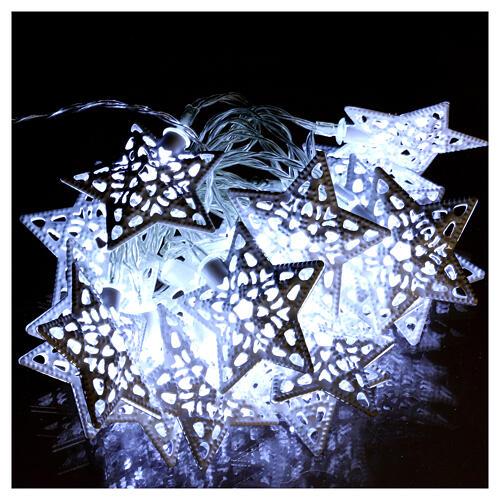 Light cable 20 led stars ice white internal use 1