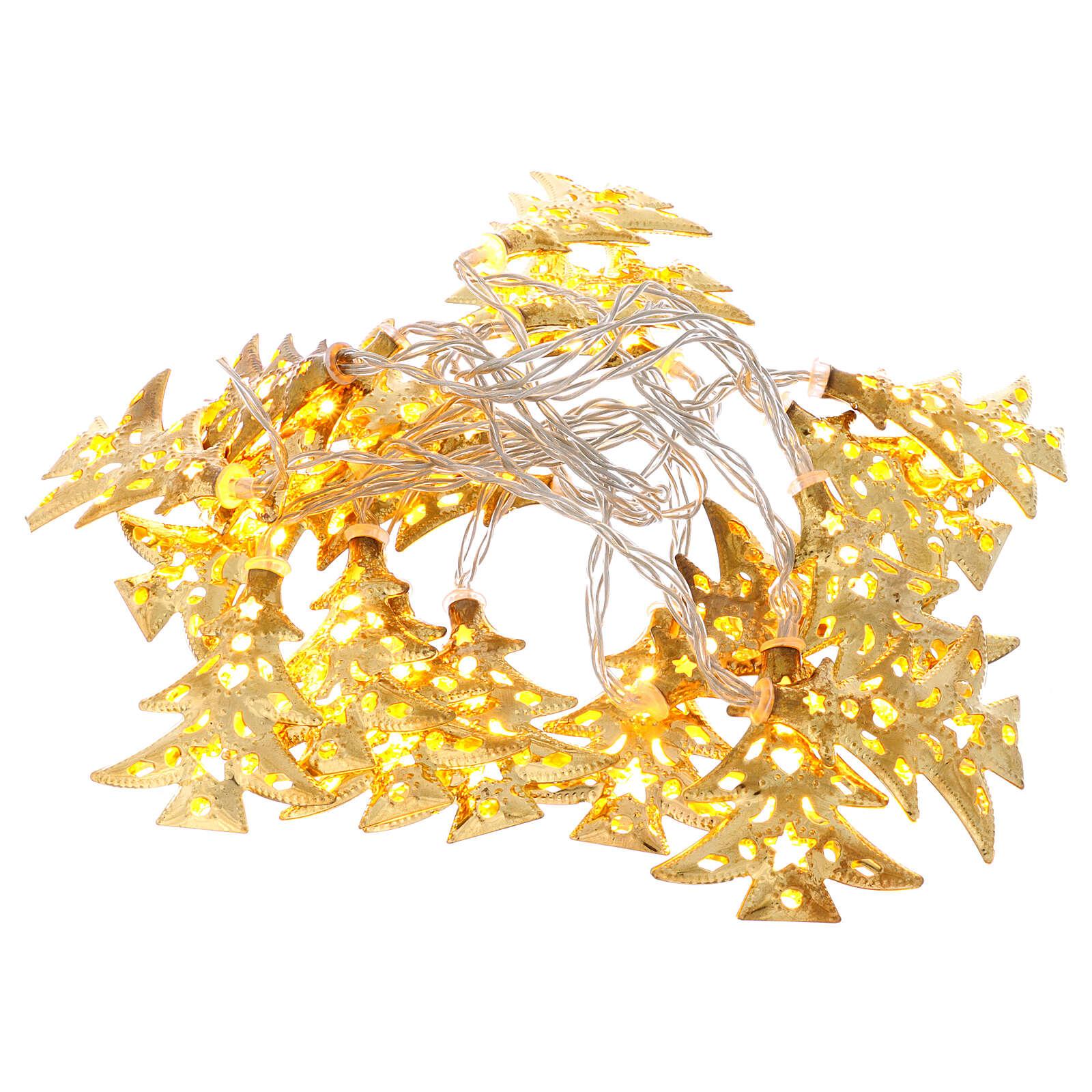 Weihnachtslichter 20 goldenfarbig Leds Tannenbaum Form 3