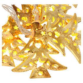 Weihnachtslichter 20 goldenfarbig Leds Tannenbaum Form s2