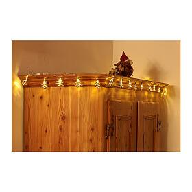 Weihnachtslichter 20 goldenfarbig Leds Tannenbaum Form s3