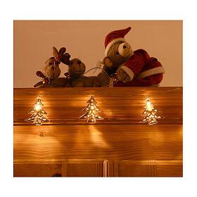 Weihnachtslichter 20 goldenfarbig Leds Tannenbaum Form s4