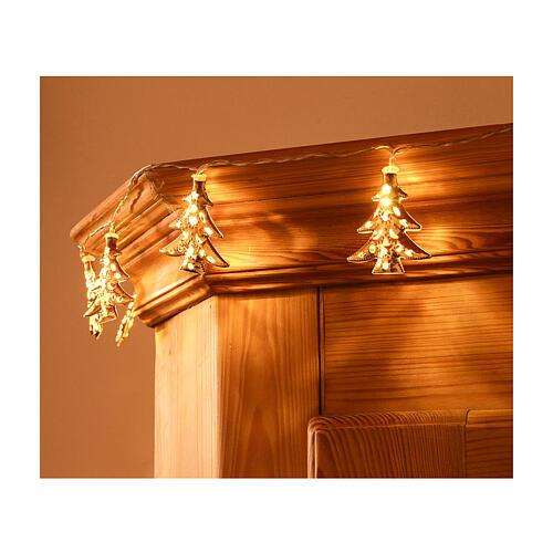 Weihnachtslichter 20 goldenfarbig Leds Tannenbaum Form 1