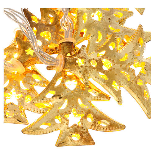 Weihnachtslichter 20 goldenfarbig Leds Tannenbaum Form 2
