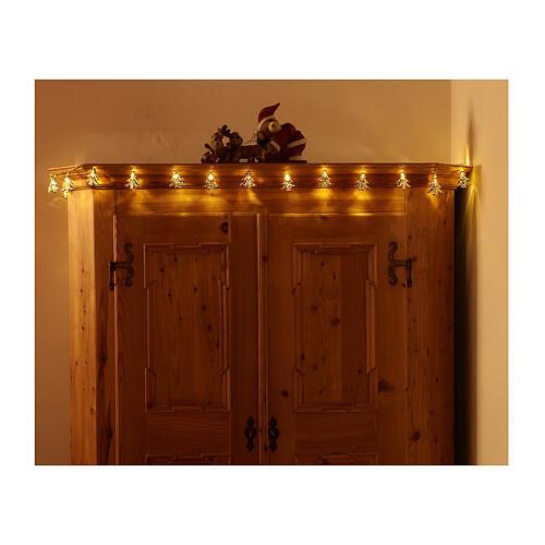 Weihnachtslichter 20 goldenfarbig Leds Tannenbaum Form 5