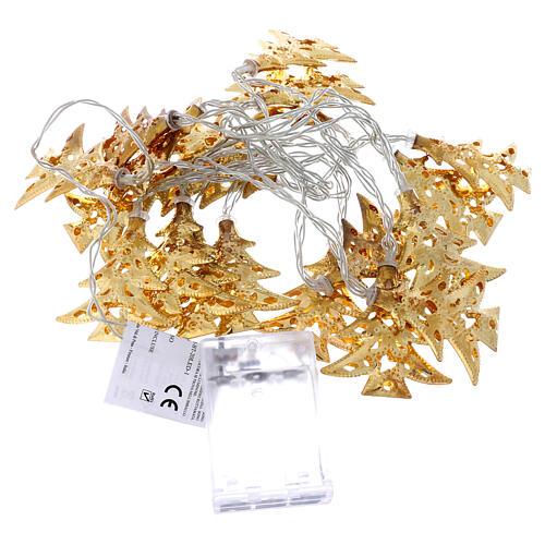 Weihnachtslichter 20 goldenfarbig Leds Tannenbaum Form 8