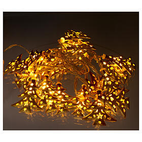 Light cable 20 leds warm white with golden trees internal use s2