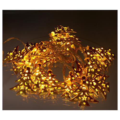 Light cable 20 leds warm white with golden trees internal use 2