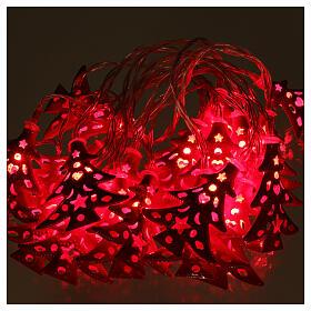Catena 20 led alberi luce rosso uso interno s2
