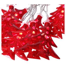 Catena 20 led alberi luce rosso uso interno s3