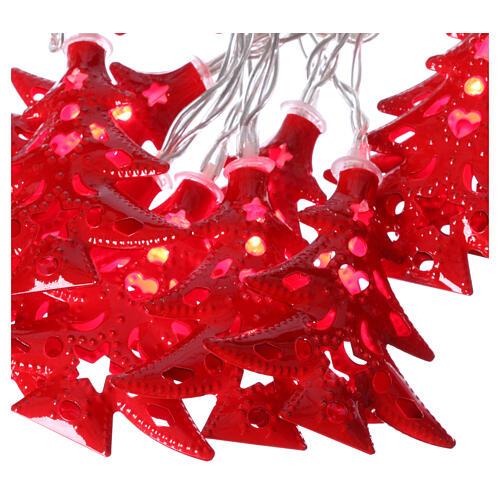 Catena 20 led alberi luce rosso uso interno 3