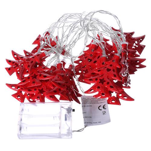 Catena 20 led alberi luce rosso uso interno 4