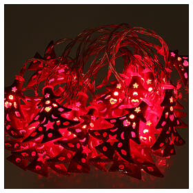 Light cable 20 leds red with trees internal use s2
