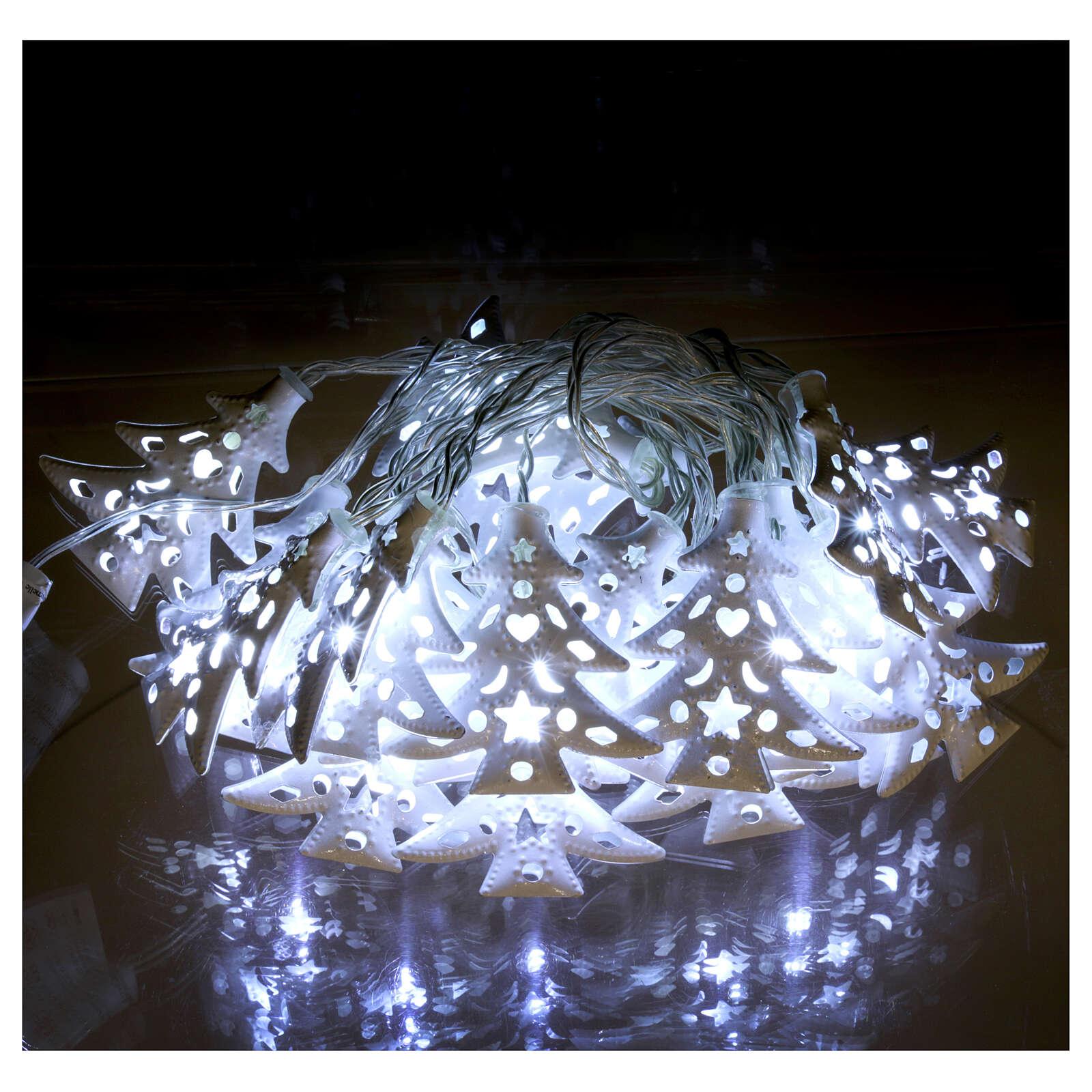 Catena luci 20 led ghiaccio alberi bianco uso interno 3