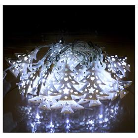 Catena luci 20 led ghiaccio alberi bianco uso interno s2