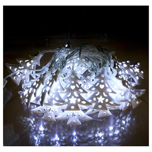 Catena luci 20 led ghiaccio alberi bianco uso interno 2