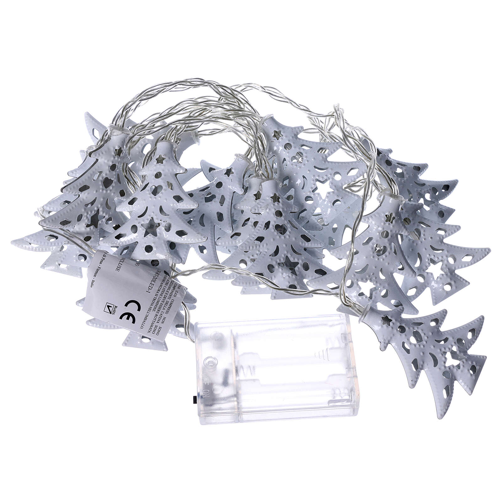 Light cable 20 leds ice white with trees internal use 3