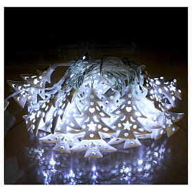 Light cable 20 leds ice white with trees internal use s2