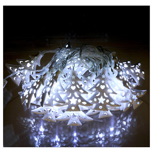 Light cable 20 leds ice white with trees internal use 2
