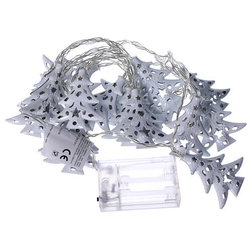 Light cable 20 leds ice white with trees internal use 5