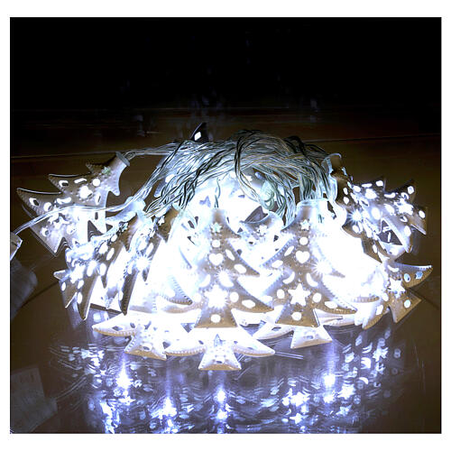 Light cable 20 leds ice white with trees internal use 1