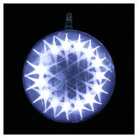 Sfera luminosa giochi luce 48 led diam. 15 cm ghiaccio s2