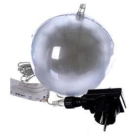 Sfera luminosa giochi luce 48 led diam. 15 cm ghiaccio s3