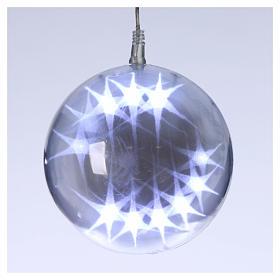 Illuminated sphere with light games 15 cm diameter ice white s1