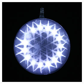 Illuminated sphere with light games 15 cm diameter ice white s2