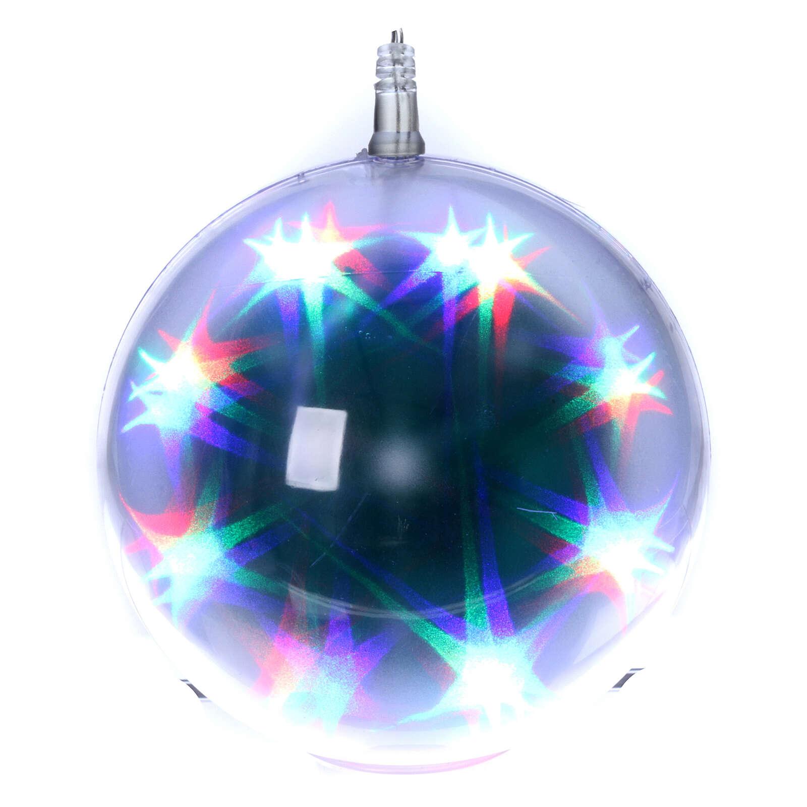 Luce natalizia sfera 48 led diam. 15 cm multicolor 3