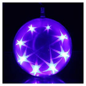 Luce natalizia sfera 48 led diam. 15 cm multicolor s4