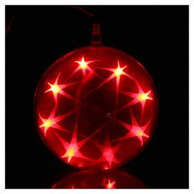 Luce natalizia sfera 48 led diam. 15 cm multicolor s6
