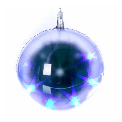 Luce natalizia sfera 48 led diam. 15 cm multicolor 2