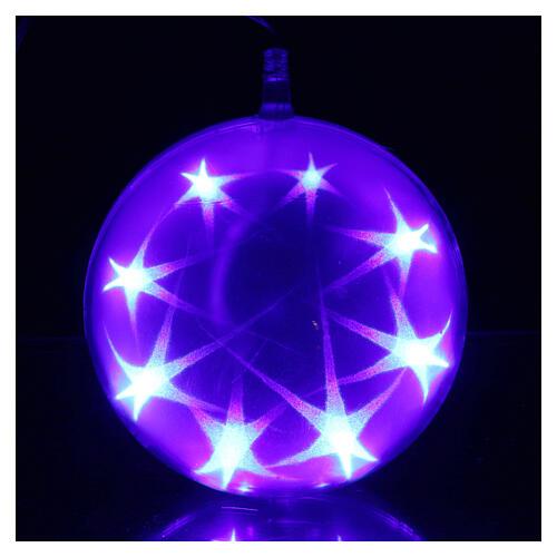 Luce natalizia sfera 48 led diam. 15 cm multicolor 4