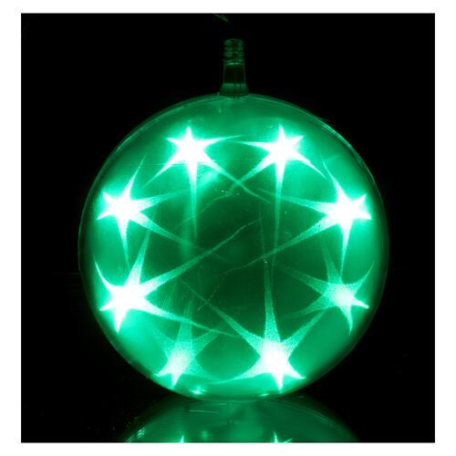 Luce natalizia sfera 48 led diam. 15 cm multicolor 5