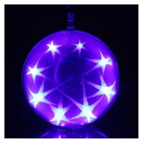 Christmas sphere light 48 leds 15 cm diameter multicoloured s3